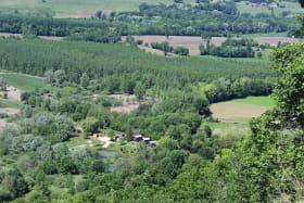 Vue aérienne sur les chalets