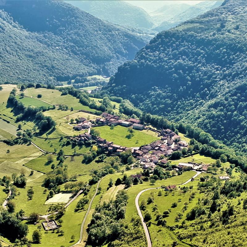 vue panoramique sur Oncieu