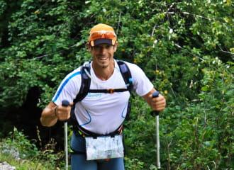 Coureur stage trail Aravis, Haute-Savoie, Alpes, Le Grand Bornand