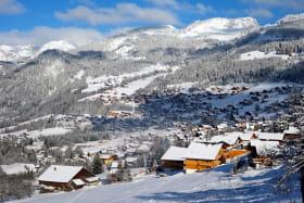 Village Châtel hiver