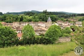 Chambre d'hôtes 'La Fuserie' à Ouroux (Rhône - Beaujolais Vert) : la vue sur le village d'Ouroux.