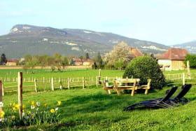 Le jardin face au Bugey