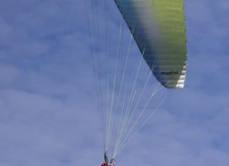Vol en parapente : vol de vallée après midi - soir