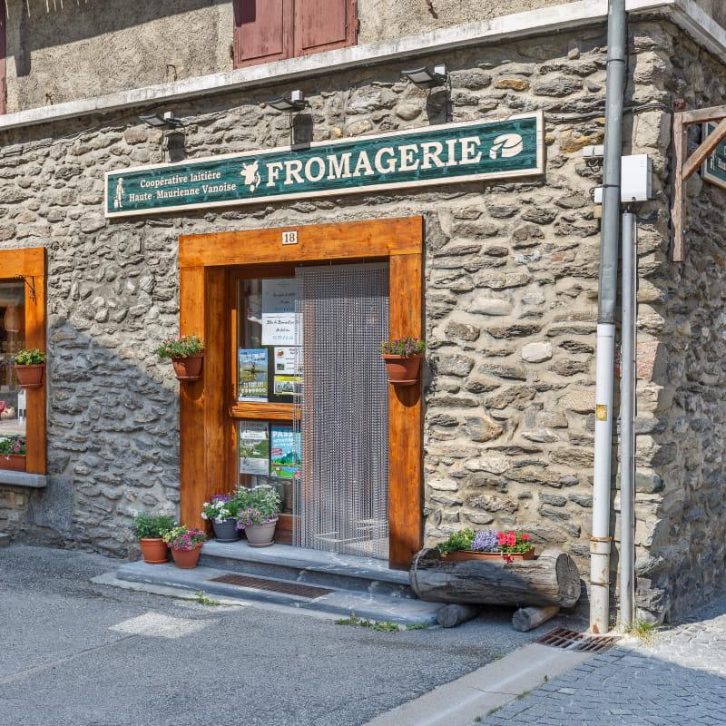 à Val Cenis-Termignon, le magasin de la Coopérative Laitière de Haute Maurienne Vanoise