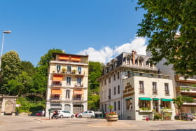 Panorama de l'arrivée à l'Hotel des Bains