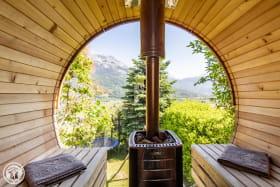 Sauna panoramique.