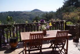 terrasse du petit déjeuner chambre d'hôtes Ardèche