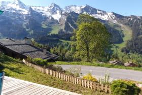 Vue montagne depuis la terrasse avec exposition sud.