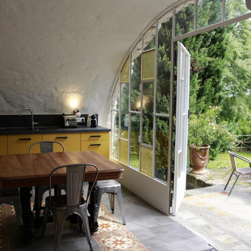 Cuisine et terrasse..
