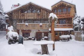 La terrasse sous la neige