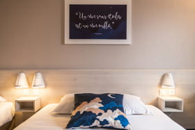 Chambre simple ou double ou triple bleue
