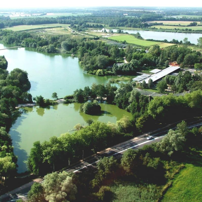 Réserve départementale et Parc des Oiseaux vue du ciel