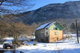 La Clairière du Moulin en hiver