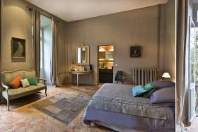 Au Château d'Uzer, la chambre