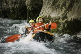 Sortie cano-raft sur la rivière du Giffre