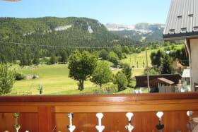 Vue en été depuis le balcon