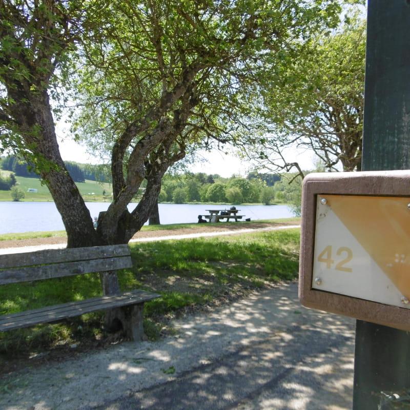 Balise parcours d'orientation Parc des Dronières