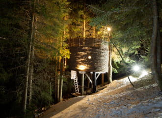 Nuit insolite dans une cabane perchée