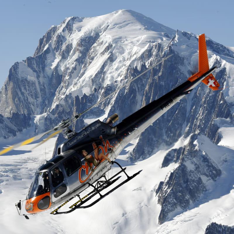 Hélicoptère mont-blanc