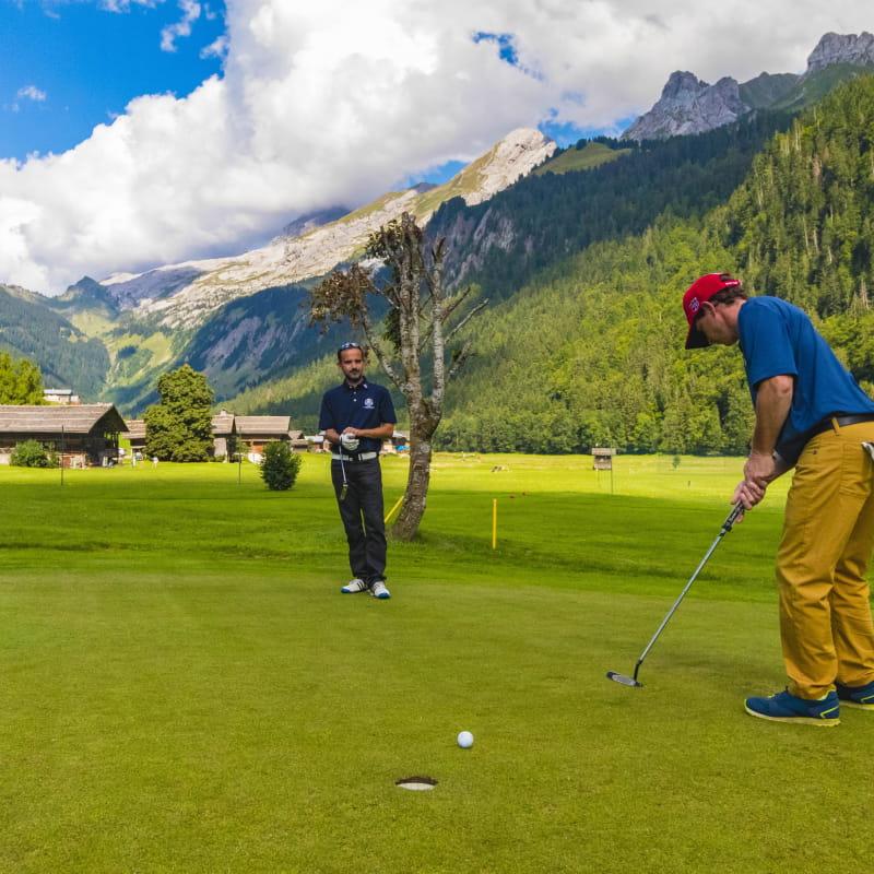 Cours particuliers de golf au Grand-Bornand