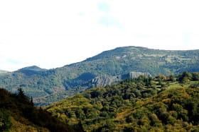 Vue sur le volcan d'Ajoux