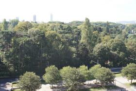 Vue depuis le 8ème étage de l'hôtel Vue de l'hôtel  Crowne Plaza Lyon - Cité Internationale