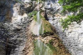 chute d'eau de la cascade de Luizet