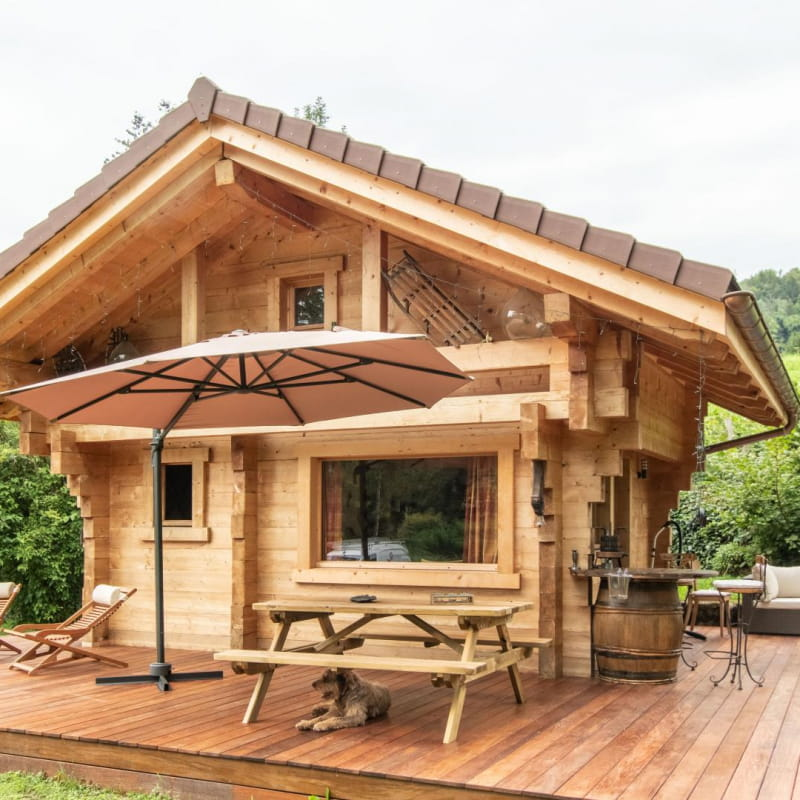 Chalet avec terrasse privative