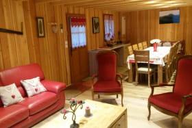 Maison Le Grand Chalet Rochefort-Montagne salon