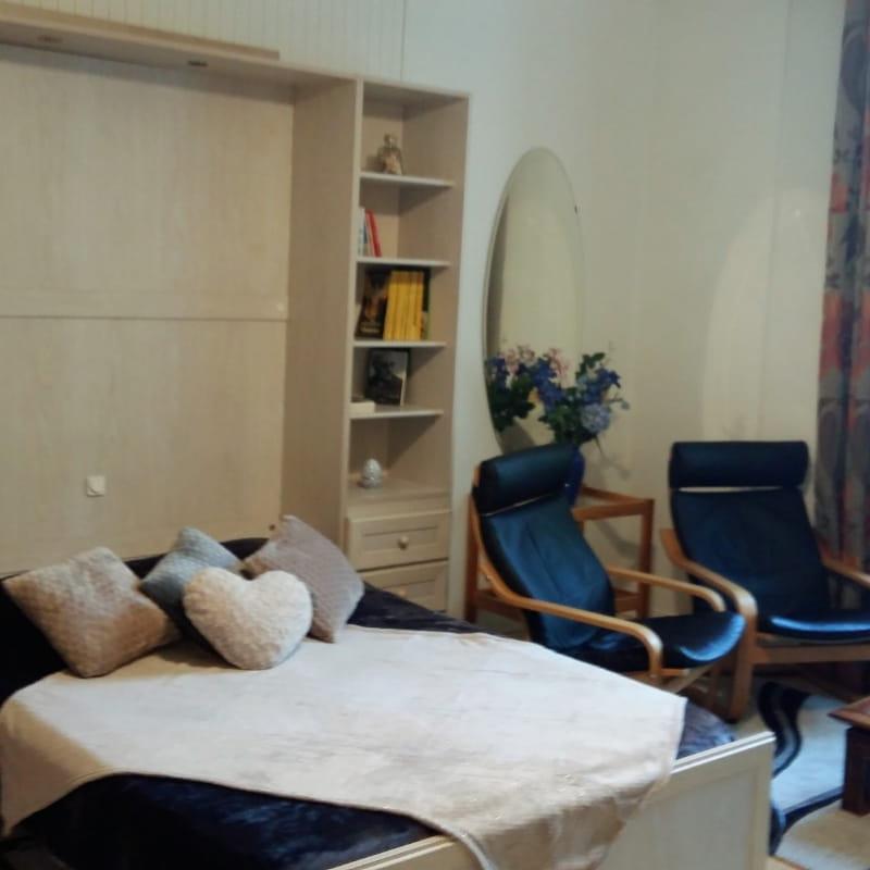 Pièce de vie : Studio dans un hôtel de charme situé à Aix les Bains en Savoie pour 2 personnes - Wifi gratuit
