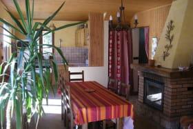 Pièce principale salle à manger/salon avec canapé lit 2 places neuf