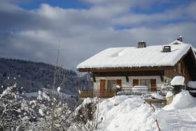 Photo d'hiver où sont situés les deux gîtes.