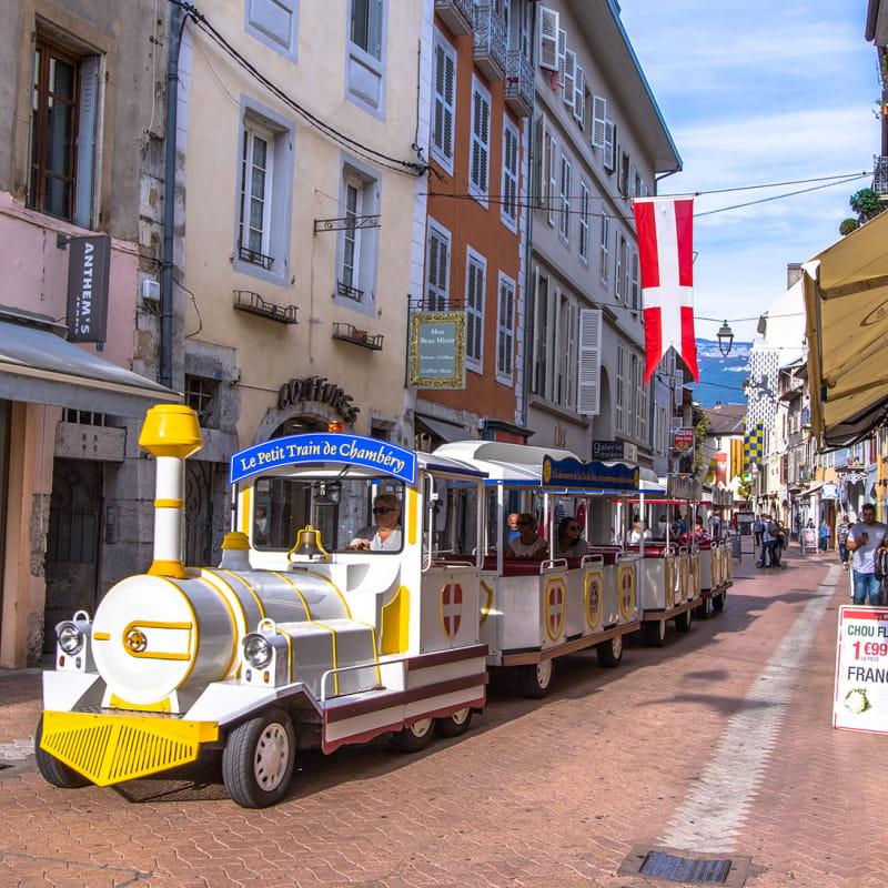 Chambéry en petit train touristique