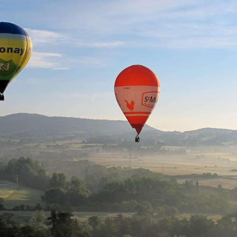 Vol avec l'association Annonay, berceau de l'aérostation