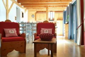 photo d'ensemble salon, salle à manger