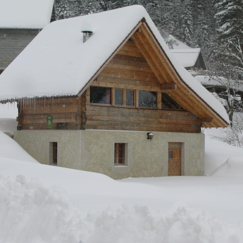 Gîte Lu Greni en hiver
