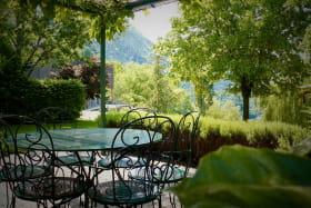 Gite le Paradis*** Pont en Royans Vercors - Gite 319101 - Ocre - Vue de la pergola