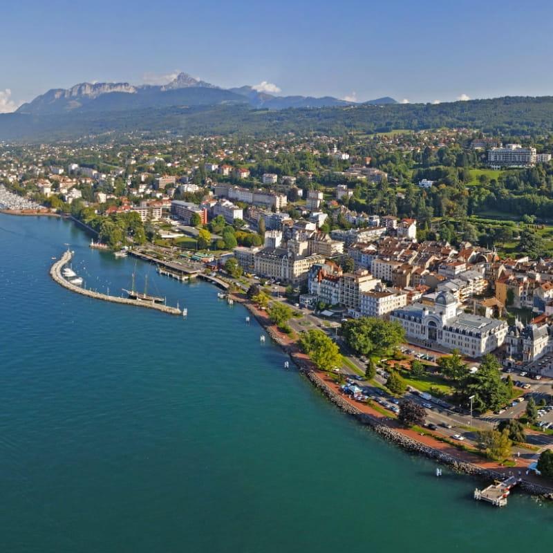 vue aérienne d'Evian