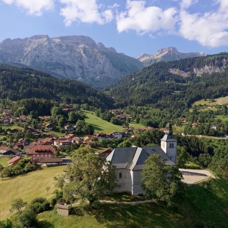 Mont-Saxonnex Vue de drone
