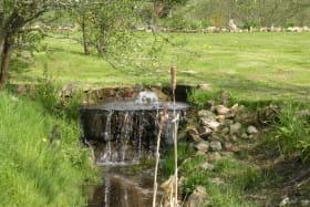 cascade dans le jardin