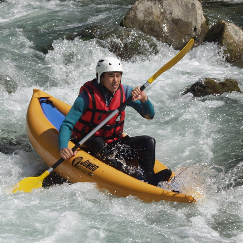 Initiation en kayak sur le lac