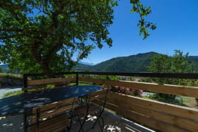 La terrasse ombragée & son panorama