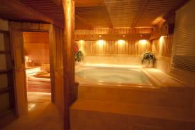 Salle Sauna et Spa. Double douche, toilettes