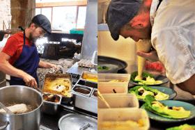 Le chef Jean Rubini en cuisine