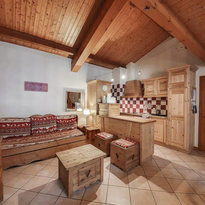 A Val Cenis Lanslebourg, un appartement cosy pour 7 personnes au cœur du village.
