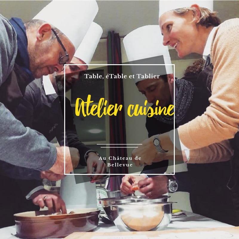cours de cuisine au Château de Bellevue à Villié-Morgon