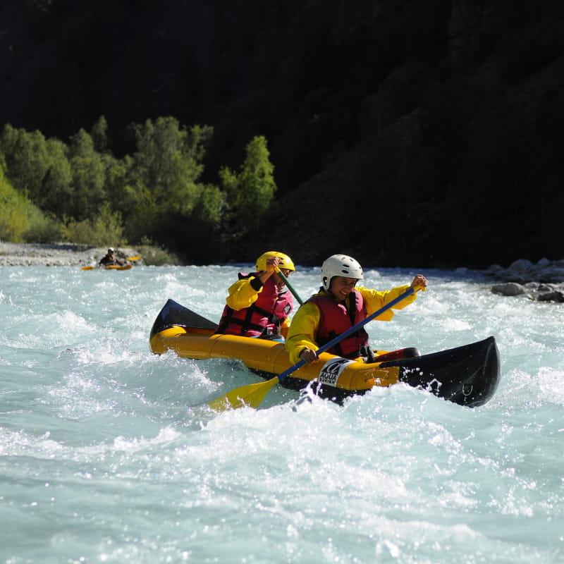 Canoe raft 2 personnes sur le veneon