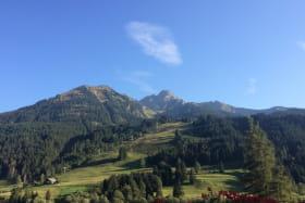 Vue sur les pistes et le Mont de Grange