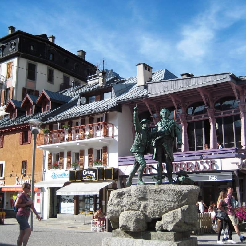 Paccard et Balmat à Chamonix