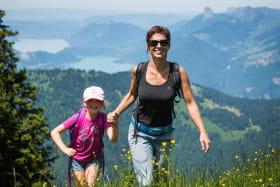 randonnée facile avec vue sur le lac d'Annecy